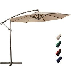 RUBEDER Offset Umbrella – 10Ft Cantilever Patio Hanging Umbrella,Outdoor Market Umbrellas ...