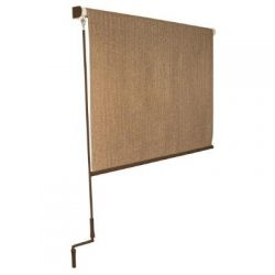 Walnut Cordless Exterior Roller Shade – 120 in. W x 96 in. L