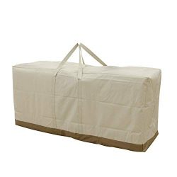 Caymus 60 x 20 x 27 inch Cushion Storage Bag Heavy Duty Zippered and Water Resistant Cover Stora ...