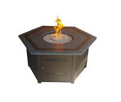 Hiland HLDS01-MGTHG Patio Heater, Large, Hammered Bronze