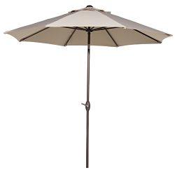 Abba Patio Outdoor 9 Feet Patio Market Table Umbrella with Push Button Tilt and Crank, Beige