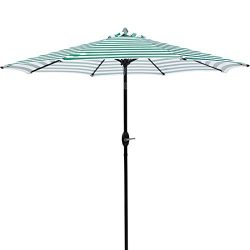 MASVIS Patio Umbrella 9'Market Outdoor Umbrella with Push Button Tilt and Crank (9FT, Gree ...