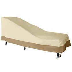 Vanteriam Patio Chaise Lounger Cover, Heavy Duty Waterproof 600D Oxford Fabric Outdoor Furniture ...