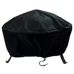 Sunnydaze Round Fire Pit Cover, Outdoor Heavy Duty, Waterproof and Weather Resistant, 60 Inch, Black