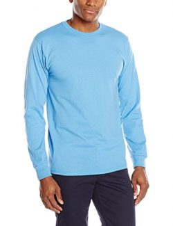 Jerzees Men's Long-Sleeve T-Shirt, Columbia Blue, Medium