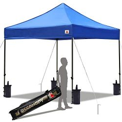 ABCCANOPY Pop up Canopy Tent Commercial Instant Shelter with Wheeled Carry Bag, Bonus 4 Canopy S ...
