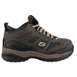 Skechers Men's Work Relaxed Fit Soft Stride Canopy Comp Toe Shoe, Brown/Black – 15 D ...
