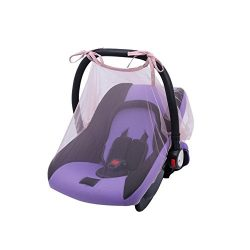 Simayixx Baby Crib Seat Mosquito Net Newborn Curtain Car Seat Insect Netting Canopy Cover (One S ...