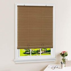 Achim Home Furnishings Cordless Solstice Vinyl Roll-Up Blind, 72″ x72, Woodtone, 72″ ...