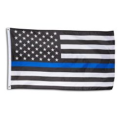 Blue Line Flag – Blue Lives Matter American Flag for Police, Firefighters, Emergency Servi ...