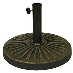 Blissun 26.5 lbs Outdoor Living Heavy Duty Round Antiqued Patio Umbrella Base