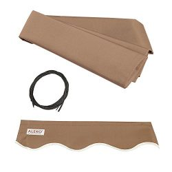 ALEKO FAB10X8SAND31 Retractable Awning Fabric Replacement 10 x 8 Feet Sand