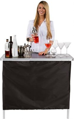 Trademark Innovations Portable Bar Table – Carrying Case Included – PORT-BAR