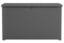 Keter 243529 Java XXL 230 Gallon Outdoor Storage Deck Box, Grey