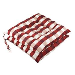 youta Seat Patio Cushion Reversible Set of 2 Chair Cushions Furniture Garden Square Chair Pads f ...