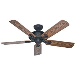 Hunter Indoor / Outdoor Ceiling Fan, with pull chain control – Mariner 52 inch, New Bronze ...