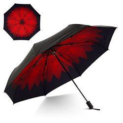 Flexzion Small Travel UV Sun & Rain Umbrella – Windproof & Sun UV Protection Scree ...