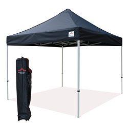 UNIQUECANOPY 10'x10′ Ez Pop Up Canopy Tent Commercial Instant Shelter, with Heavy Du ...