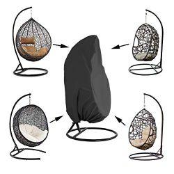 Kasla Waterproof Cover for Patio Hanging Egg Swing Chair, Windproof Heavy Duty Garden Furniture  ...
