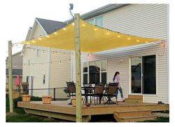 Rectangle Sun Shade Sail Canopy, 10′ x 12′ Patio Shade Cloth Outdoor Cover – U ...