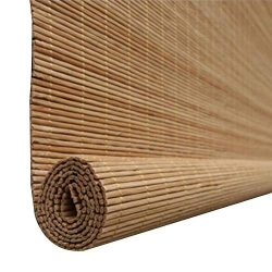 CHAXIA Roller Blind Bamboo Shade Cut Off Anti-Sun Balcony Ventilation Curtain Pull Rope 2 Colors ...