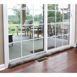 HOME DISTRICT Sliding Door Draft Dodger – Weighted Patio Breeze, Bug, Noise Guard –  ...