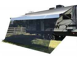 "Tentproinc RV Awning Sun Shade 8′ X 17′ 3"" Black Recreational Home Mesh Screen ..."