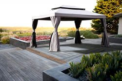 Grand Patio 10×13 Feet Patio Gazebo, Outdoor Canopy with Mosquito Netting and Shade Curtain ...