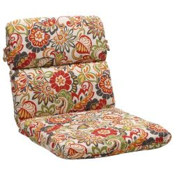 Pillow Perfect Indoor/Outdoor Multicolored Floral Chair Round Cushion