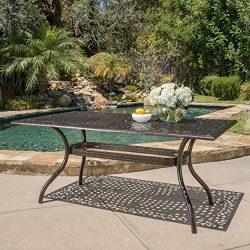 Christopher Knight Home Monteria Bronze Cast Aluminum Rectangle Table
