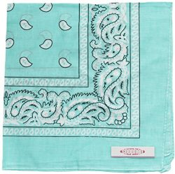 Soophen Paisley One Dozen Cowboy Bandanas (Light Blue 22 X 22 in , 12-Pack)