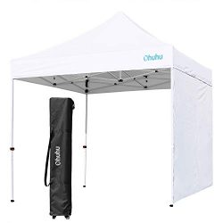Ohuhu EZ Pop-Up Canopy Tent with Sidewall, 10 X 10 FT Sturdy Commercial Instant Shelter with Rem ...