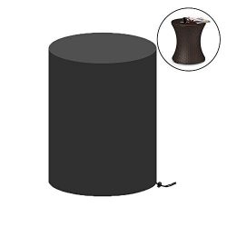 Saking Patio Bar Table Cover Round Waterproof for Keter 7.5-Gal Cool Bar Table & Outdoor Cof ...