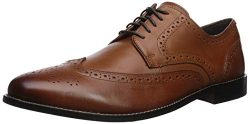 Nunn Bush Men's Nelson Wing Tip Oxford Dress Casual Lace-up,Cognac,12 W US