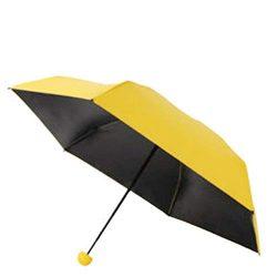 Mini Pocket Compact Umbrella for Women Sun Anti UV 9 Folding Rain Windproof with Capsule Storage ...