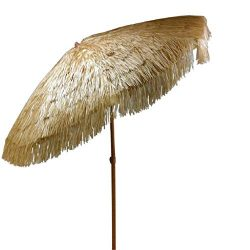Tiki Umbrella 8 Feet Outdoor Patio Umbrella Hula Thatched Tropical Hawaiian Patio Straw Umbrella ...