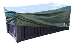 YardStash Deck Box Cover XXL to Protect Extra Wide Deck Boxes: Keter Westwood Deck Box Cover, Ke ...