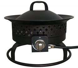 Bond Manufacturing 67836 50,000 BTU Aurora Portable Steel Gas Fire Pit Outdoor Camping Firebowl, ...