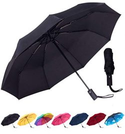 Rain-Mate Compact Travel Umbrella – Windproof, Reinforced Canopy, Ergonomic Handle, Auto O ...