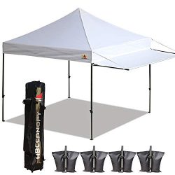 ABCCANOPY 10×10 Tent Pop-up Canopy Tent Instant Canopies Commercial Outdoor Canopy with Awn ...