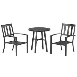 AmazonBasics 3-Piece Steel Bistro Outdoor Patio Set