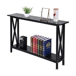 shamoluotuo Narrow Side End Table – Double Oxford Storage Table Display Shelf with 2 Tier  ...