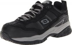 Skechers Men's Work Relaxed Fit Soft Stride Grinnel Comp, Black/Gray – 10.5 D(M) US