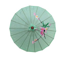 JapanBargain S-2176, Kid's Size Chinese Japanese Oriental Parasol Umbrella 22-inch, Green  ...