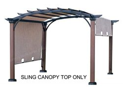 ALISUN Sling Canopy (with Ties) for The Lowe's Allen + roth 10 ft x 10 ft Tan/Black Materi ...