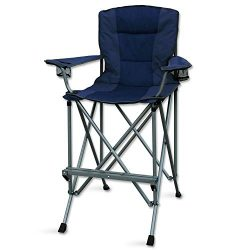 RMS Outdoors Extra Tall Folding Chair – Bar Height Director Chair for Camping, Home Patio  ...