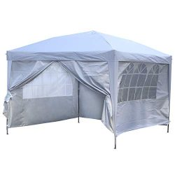 Outdoor Basic 10×10 Pop up Canopy Party Tent Instant Gazebos with 4 Removable Sidewalls White