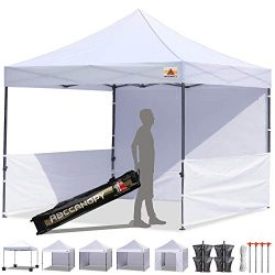 ABCCANOPY 10'x10′ Pop-up Canopy Tent Commercial Instant Tent with 4 Removable Zipper ...
