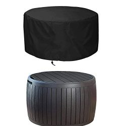 EPCOVER Patio Deck Box Cover,Round Outdoor Storage Table Cover,to Protect Deck Boxes & Round ...