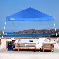 LAKE & TRAIL 12'x12′ Slant Leg UV Block Sun Shade Canopy with Hardware Kits, Sha ...